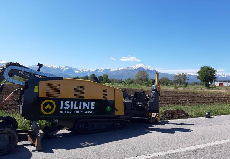 Tecnica no-dig per l'installazione della fibra ottica Isiline